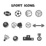 Ícones do esporte Fotos de Stock Royalty Free