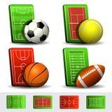 Ícones do esporte Foto de Stock Royalty Free