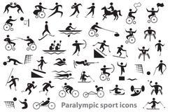 Ícones do esporte de Paralympic Imagens de Stock
