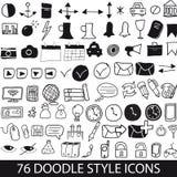 Ícones do estilo da garatuja Fotografia de Stock Royalty Free