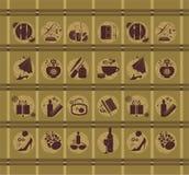 Ícones do estilo de vida ilustração do vetor