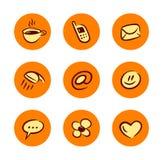 Ícones do estilo de vida ajustados Imagem de Stock Royalty Free