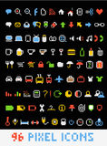 Ícones do estilo do pixel da cor Imagens de Stock Royalty Free