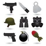 Ícones do exército Imagem de Stock
