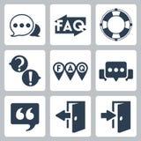 Ícones do FAQ/informação do vetor ajustados Fotos de Stock Royalty Free