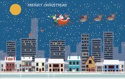 Ícones do feriado do Natal e do ano novo Foto de Stock
