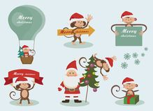Ícones do feriado do Natal e do ano novo fotografia de stock royalty free