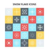 Ícones do floco da neve ilustração do vetor