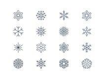 Ícones 3 do floco de neve Fotos de Stock