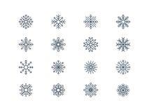 Ícones 4 do floco de neve Fotografia de Stock