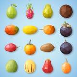 Ícones do fruto Ilustração do vetor Imagem de Stock Royalty Free