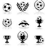 Ícones do futebol ilustração do vetor