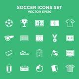 Ícones do futebol ajustados ilustração eps10 Fotos de Stock Royalty Free