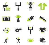 Ícones do futebol americano simplesmente Fotografia de Stock Royalty Free