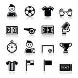 Ícones do futebol/futebol ajustados Fotografia de Stock