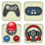 ícones do gamepad Foto de Stock