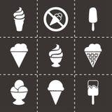 Ícones do gelado do vetor ajustados Foto de Stock Royalty Free