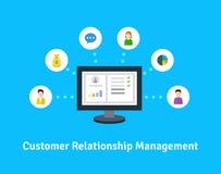 Ícones do gerenciamento de relacionamento com o cliente Imagem de Stock
