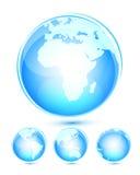 Ícones do globo Ilustração Royalty Free