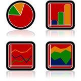 Ícones do gráfico Foto de Stock