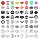 Ícones do grupo de etiqueta no estilo dos desenhos animados Coleção grande do símbolo da ilustração do vetor da etiqueta ilustração royalty free