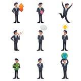 Ícones do homem de negócios Fotografia de Stock Royalty Free