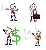 Ícones do homem de negócios Foto de Stock Royalty Free