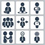 Ícones do homem de negócios do vetor ajustados Fotos de Stock Royalty Free