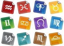 Ícones do Horoscope do zodíaco Foto de Stock