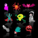 Ícones do horror ilustração stock
