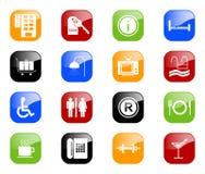 Ícones do hotel - série da cor Imagem de Stock