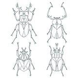 Ícones do inseto, grupo do vetor Estilo triangular abstrato Fotografia de Stock Royalty Free