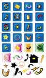 Ícones do Internet Imagem de Stock Royalty Free