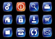 Ícones do Internet Fotos de Stock