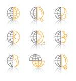 Ícones do Internet do vetor Foto de Stock Royalty Free