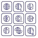 Ícones do Internet do vetor Fotografia de Stock Royalty Free