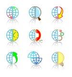 Ícones do Internet do vetor Imagens de Stock Royalty Free