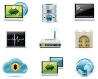 Ícones do Internet e da rede do vetor. Parte 1 Foto de Stock