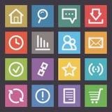 Ícones do Internet lisos Imagens de Stock