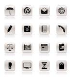 Ícones do Internet simples do negócio e do escritório ilustração stock