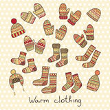 Ícones do inverno Foto de Stock