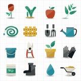 Ícones do jardim Imagens de Stock Royalty Free