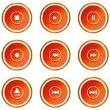 Ícones do jogador Fotografia de Stock Royalty Free
