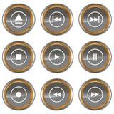 Ícones do jogador ajustados Foto de Stock Royalty Free