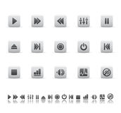 Ícones do jogador e do som Imagem de Stock Royalty Free