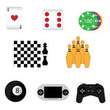 Ícones do jogo Imagens de Stock Royalty Free