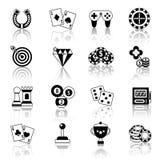 Ícones do jogo ajustados Fotografia de Stock Royalty Free