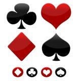 Ícones do jogo do póquer ilustração do vetor