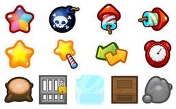 Ícones do jogo do fósforo três ilustração stock