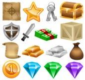 Ícones do jogo, jogo social, jogo online, desenvolvimento do jogo Imagem de Stock